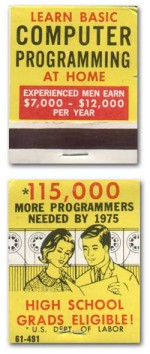 Matchbook Cover: Learn Basic Computer Programming at Home
